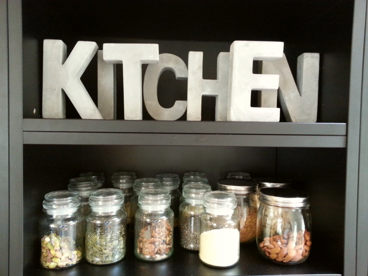 Kitchen Shelves with Spices